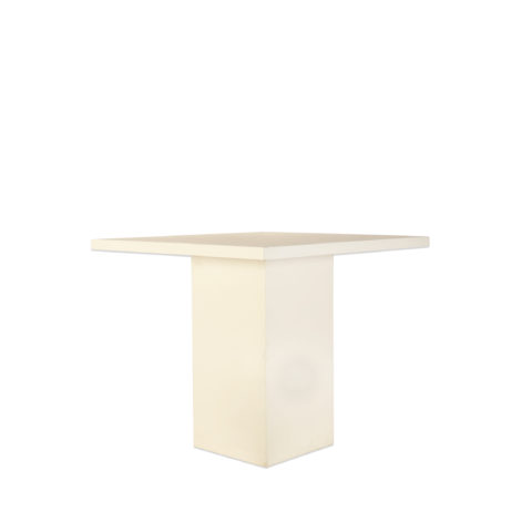 Witte Staan Tafel 120X120